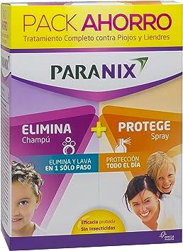 Paranix Pack Champú + Protect. Tratamiento para Piojos y Liendres - Incluye Lendrera - Sin insecticidas - contiene Champú de Tratamiento y Spray Preventivo: Amazon.es: Salud y cuidado personal