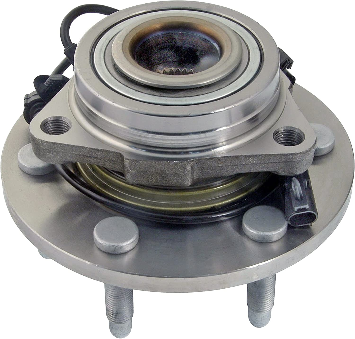 Detroit Axle - 4WD Only Brand New Front (Left or Right) Wheel Hub and Bearing Assembly for Chevrolet & GMC Truck's & SUV's 4x4 6-Lug ABS