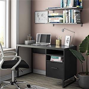 Ameriwood Home Candon Computer, Black Desk