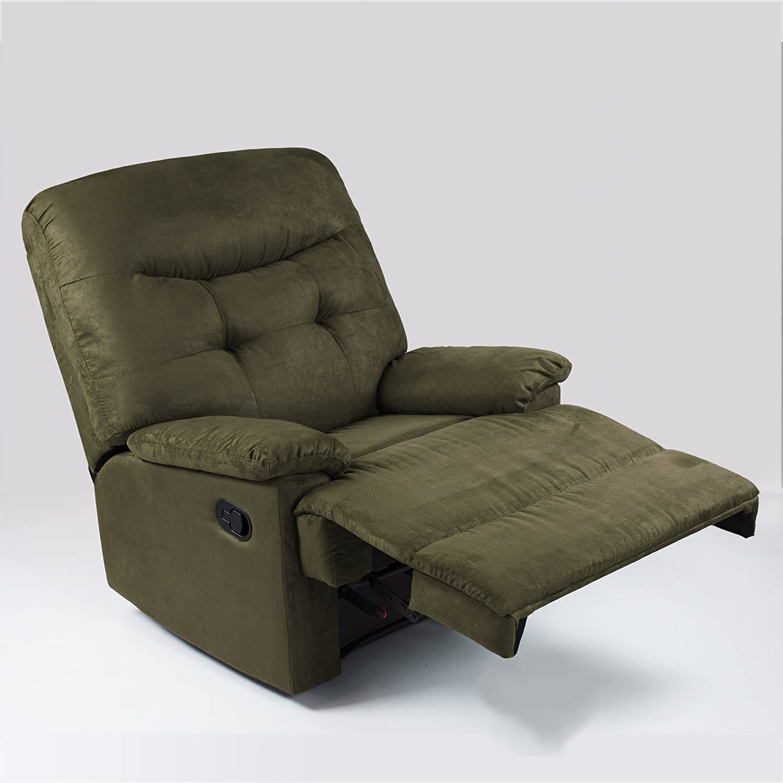 amazon com ocean bridge big jack microfiber recliner chair green