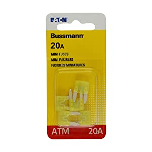 Bussmann 0408.1332 Yellow Automotive Mini Non-Indicating Fast Acting Fuse
