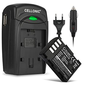 CELLONIC® Batería Compatible con Panasonic GH5 Lumix DC-GH5s G9 DC-G9 DMC-GH4 GH4h GH4 GH4r GH3 GH3h GH3a Ersatzakku DMW-BLF19 DMW-BLF19e -BLF19pp + ...
