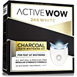 Teeth Whitening Kit with Organic Charcoal - Natural Teeth Whitening with LED Accelerator (30 treatments, mint flavor))
