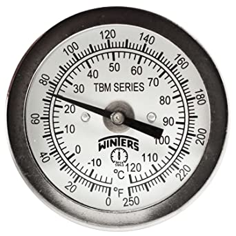 Winters Tbm Series Stainless Steel 304 Dual Scale Bi Metal Thermometer 4 Stem 1 4 Npt Fixed Center Back Mount Connection 2 Dial 0 250 F C Range Science Lab Bi Metal Thermometers Amazon Com Industrial Subito a casa e in tutta sicurezza con ebay! winters tbm series stainless steel 304 dual scale bi metal thermometer 4 stem 1 4 npt fixed center back mount connection 2 dial 0 250 f c range