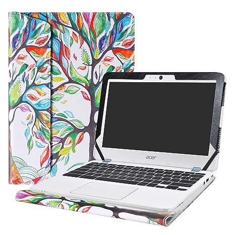 """Alapmk Diseñado Especialmente La Funda Protectora de Cuero de PU para 11.6"""" Acer Chromebook 11"""