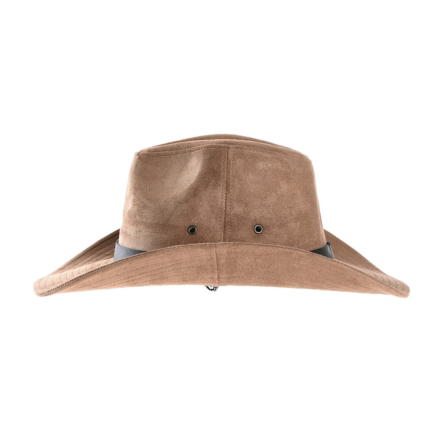 WITHMOONS Suede Indiana Jones Hat Outback Hat Fedora Cord CD8858