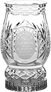 Galway Hurricane Lamps with Candle Irish Blessing Pillar