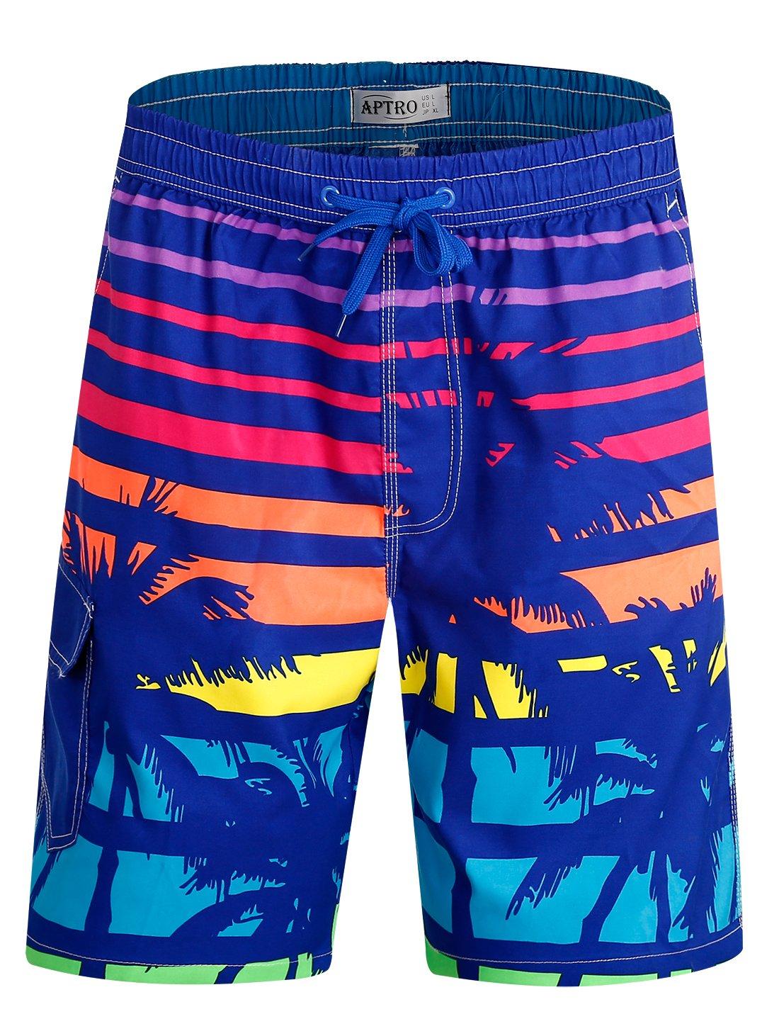 APTRO Men's Swim Trunks Beach Holiday Bathing Suits Swimwear #SG884 XL by APTRO