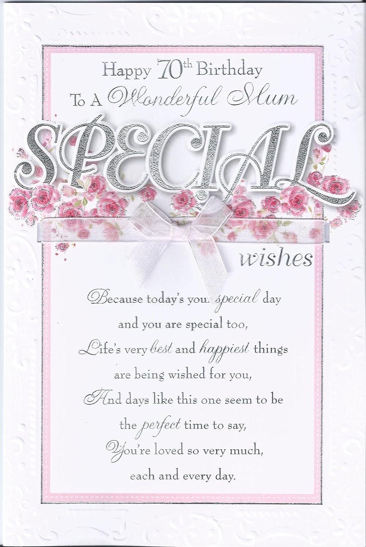 Mum 70th birthday card happy 70th birthday to a wonderful mum mum 70th birthday card happy 70th birthday to a wonderful mum traditional design card lovely verse amazon kitchen home bookmarktalkfo Choice Image