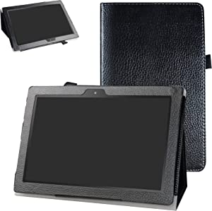 "Digiland DL1023 10.1 Tablet Case,Digiland DL1016 10.1 Tablet Case,Bige PU Leather Folio 2-Folding Stand Cover for 10.1"" Digiland DL1016 /DL1018A /DL1023 Tablet,Black"