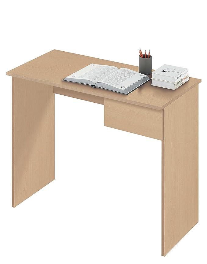 Abitti Escritorio Mesa de Ordenador Multimedia Color Roble con ...