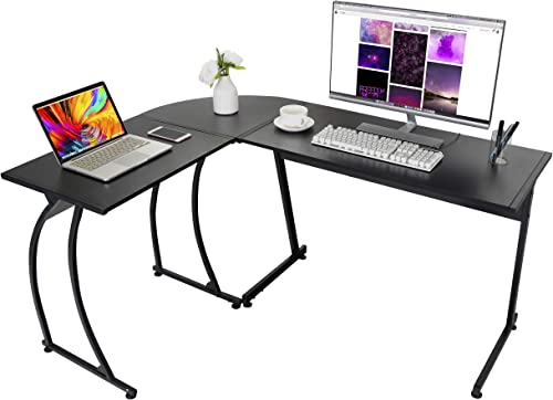 ZENY Computer Desk L-Shaped Corner Desk Gaming Desk Reversible Table Home Office PC Laptop Workstation,Study Writing Desk Wood Steel
