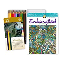 Coloring Pages and Pencils Bundle for Adults from STAK is Stress Relief Escape Therapy that Creates a Perfect Balance of Calm Relaxation and Fun. Get this Therapeutic Coloring Book Value Pack 1 Now!