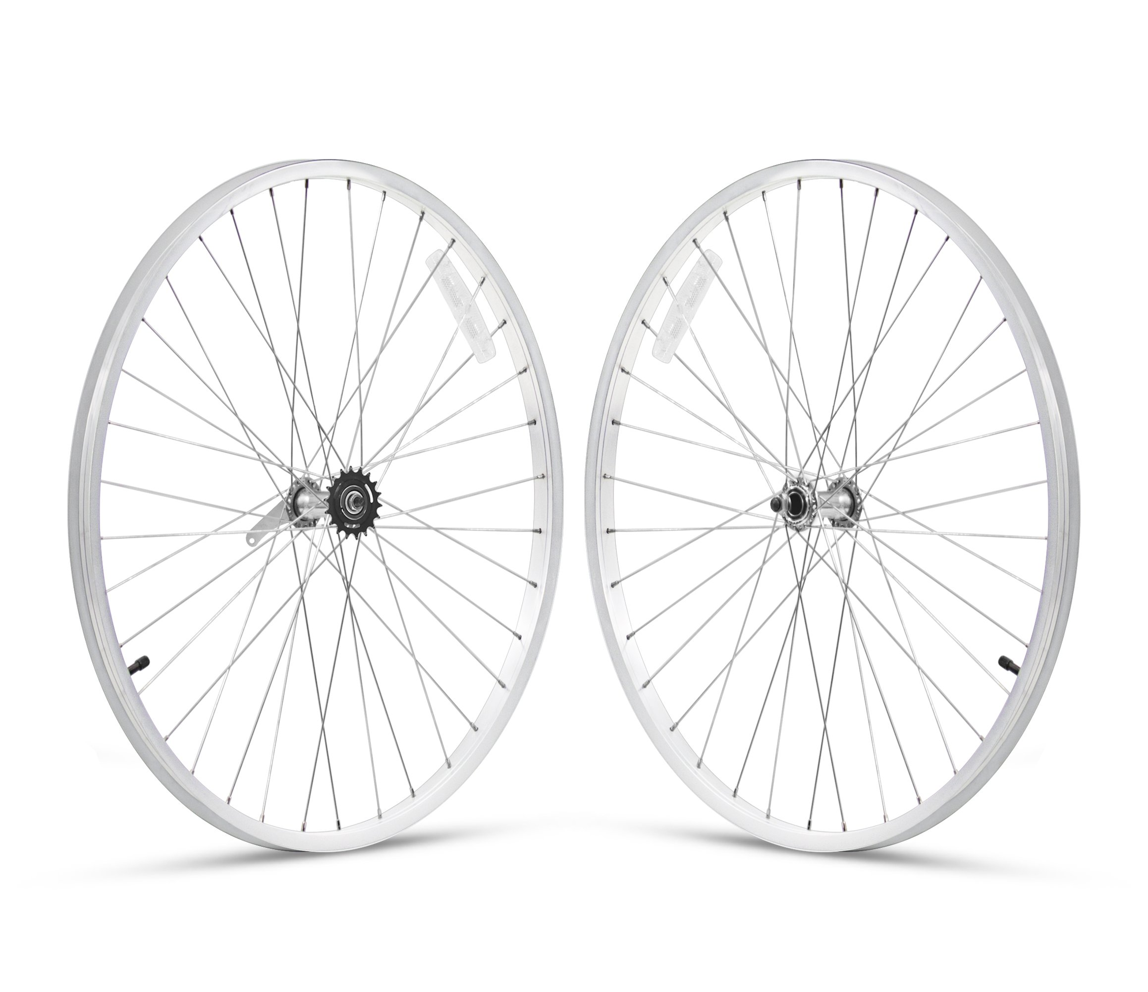 Firmstrong 1-Speed Beach Cruiser Bicycle Wheelset, Front/Rear, White, 26'' by Firmstrong
