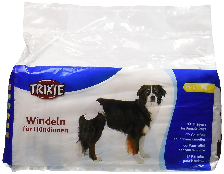 Trixie 12 Pañales Perros ultra absorbentes, XL: Amazon.es: Productos para mascotas