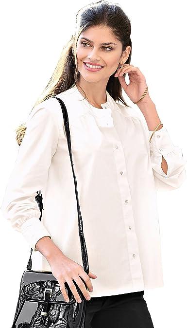 VENCA Camisa Cuello Mao con canesú Fruncido en Delantero y Espalda Mujer by - 007883: Amazon.es: Ropa y accesorios