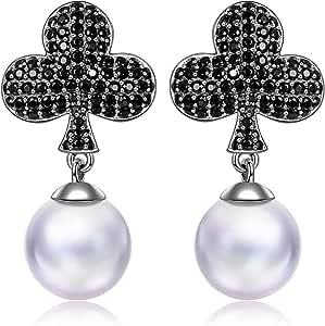 MYMISS San Valentín Regalos pendientes mujer plata zirconia perlas ...