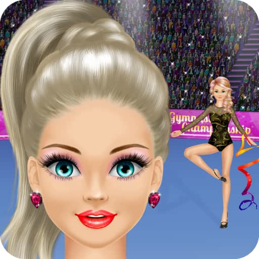Gymnastics Salon: Spa, Makeup and Dress Up Gymnast Makeover Girly Girl Games with Face Paint