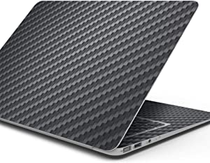 Design Skinz Textured Black Carbon Fiber Full-Body Wrap Scratch Resistant Decal Skin-Kit Compatible with MacBook 13