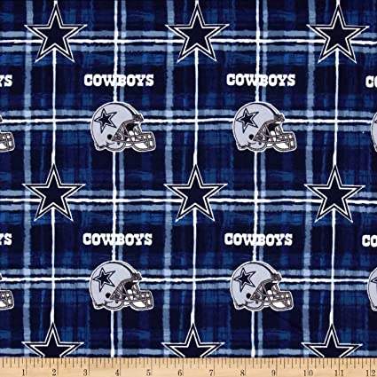 Amazon.com  Fabric Traditions NFL Flannel Dallas Cowboys Navy Grey ... 47696dcf6