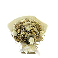 Ramo de flores con bombones Ferrero Rocher (10