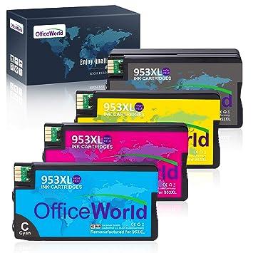 OfficeWorld 953XL - Cartuchos de tinta para impresora HP 953XL 953 ...