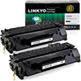LINKYO 2-Pack Compatible Toner Cartridges Replacement for HP 05A CE505A (Black)