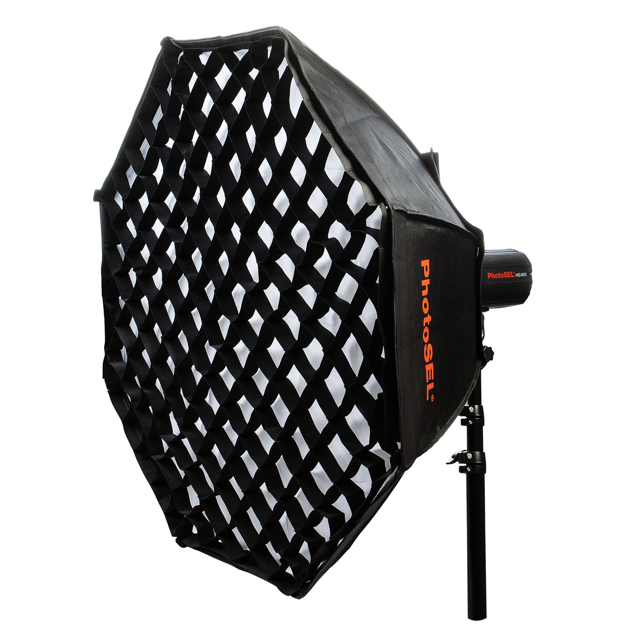 37 Octagon Honeycomb Grid Softbox With Flash Mounting For: PhotoSEL Octagonal Softbox With