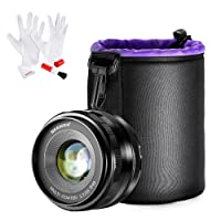 Neewer Obiettivo Fisso Primario 35mm f/1,7 Focus Manuale con Custodia & Kit di Pulizia per Fotocamere Digitali Sony E-Mount NEX3, 3N, 5, 5T, 5R, 6, 7, A5000, A5100, A6000, A6100 & A6300 ecc. (NW-E-35-1.7)