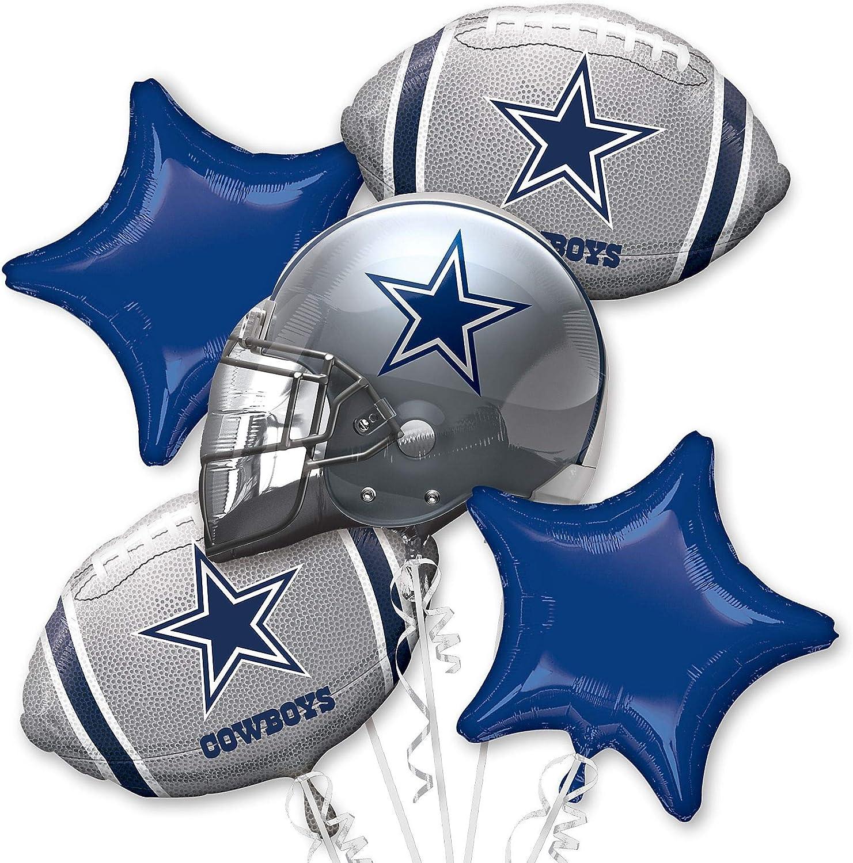 Dallas Cowboys printed Foil Balloon Bouquet
