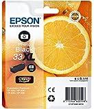 """Epson Cartouche d'Origine T33 """"Oranges"""" - Encre Claria Home Noir Photo - Taille XL"""