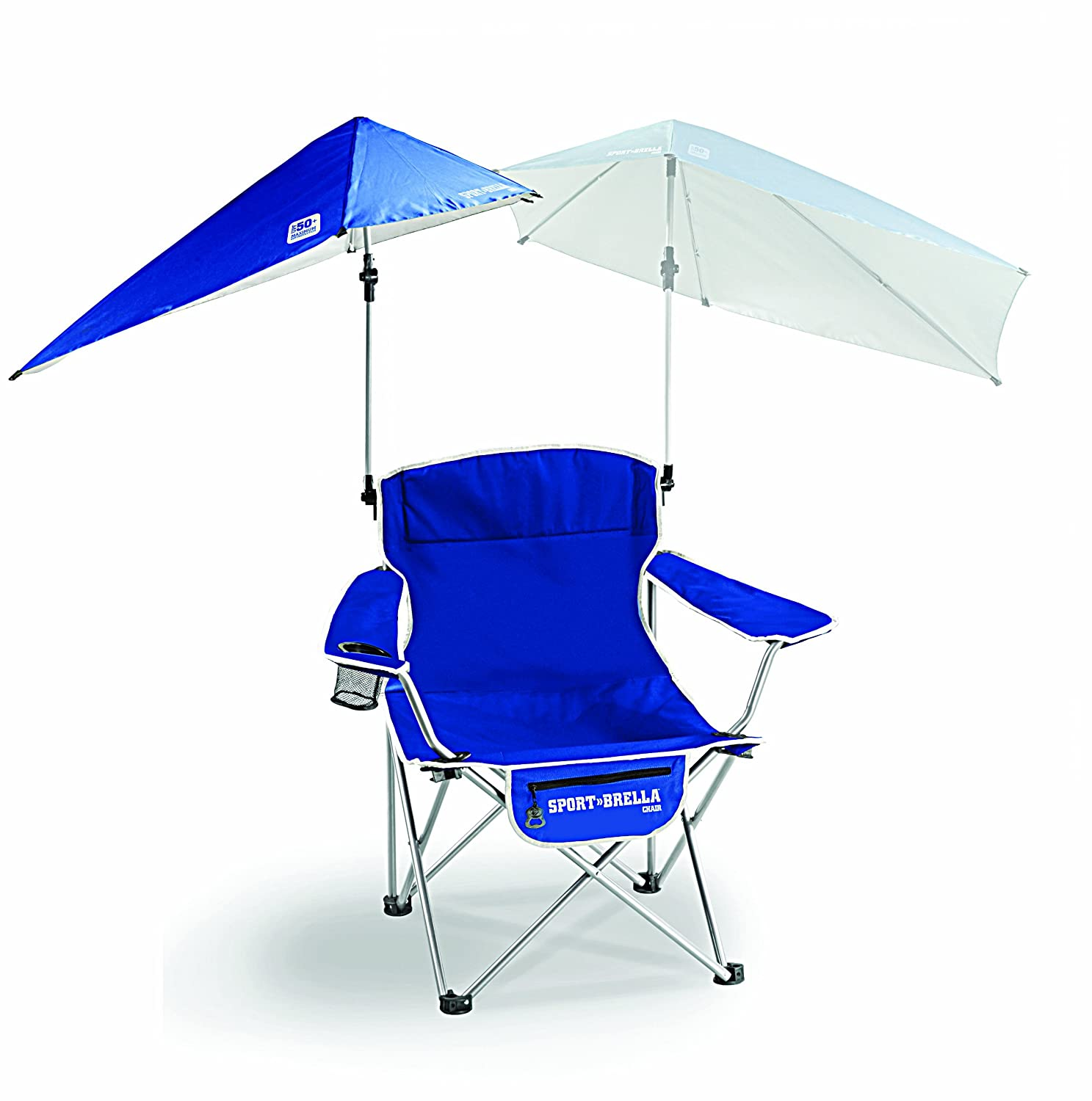 Camping chairs with umbrella - Amazon Com Sport Brella Umbrella Chair Blue Sun Shelters Sports Outdoors