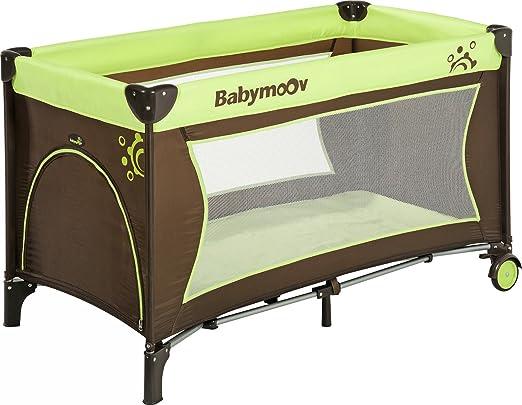 Babymoov Sweet Night - Cuna de viaje con cama plegable, color chocolate y verde anís: Amazon.es: Bebé