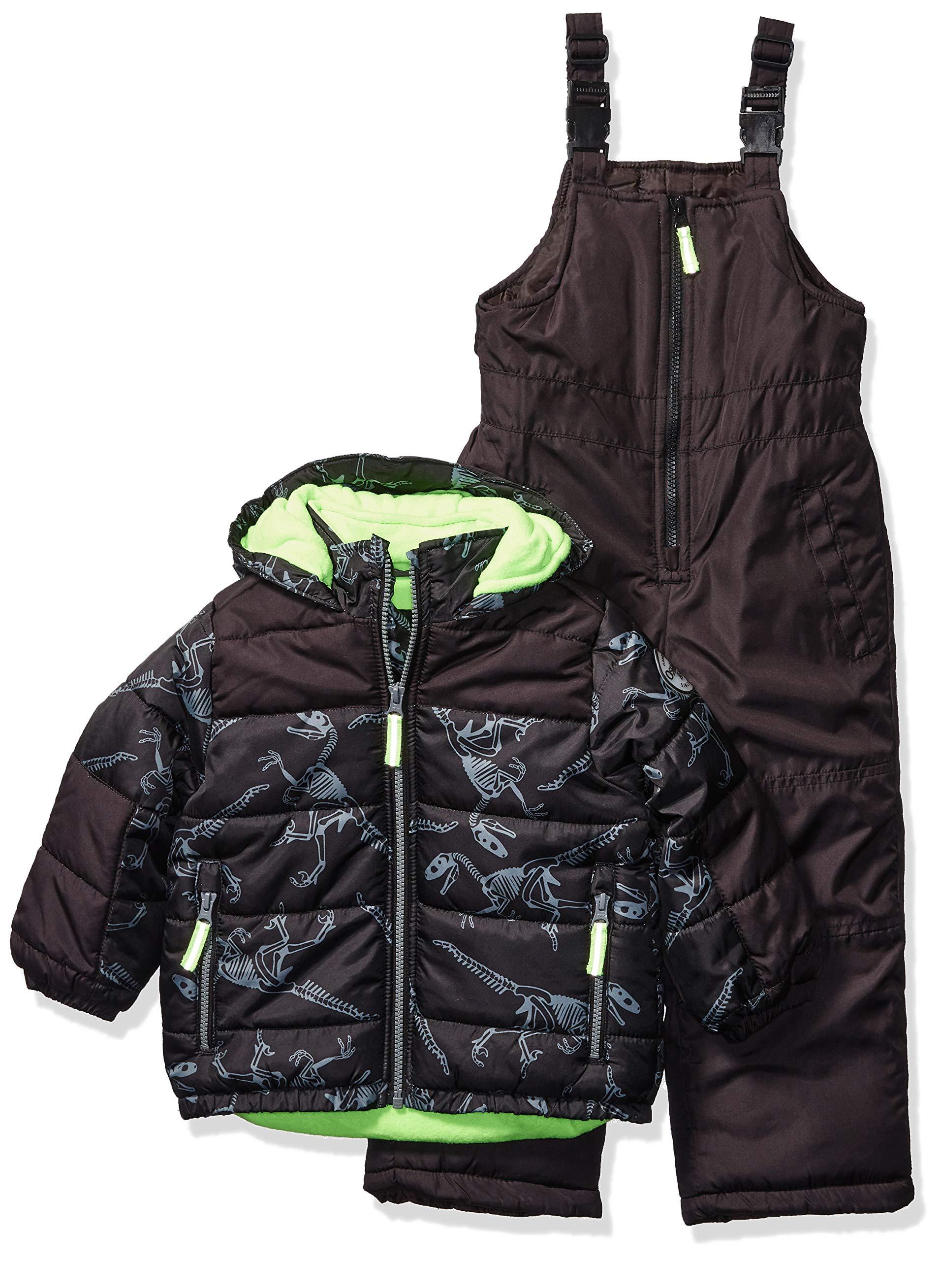 Osh Kosh Boys' Little Ski Jacket and Snowbib Snowsuit Set, Print Fall, 5/6 by OshKosh B'Gosh