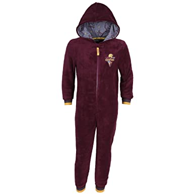 c1215bb5c Burgundy Hooded All In One Piece Pyjama, Onesie For Boys Harry Potter  Gryffindor - 7-8 Years 128 cm: Amazon.co.uk: Clothing