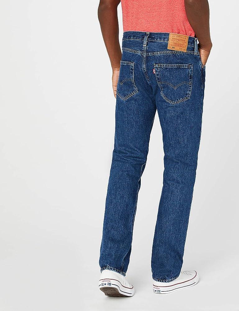 fafa944c16fecb Levi's Mens 501 Regular Straight-Leg Denim Jeans Blue Size 30 Length 30.  Back. Double-tap to zoom