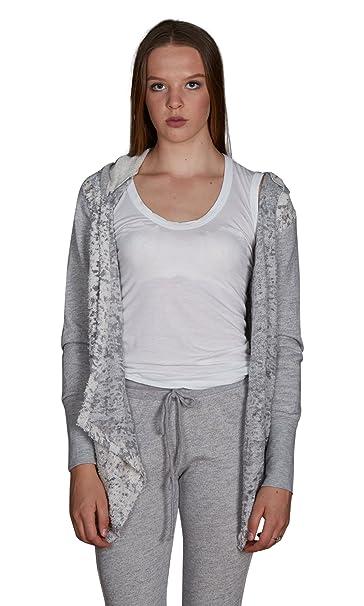 Amazon.com: valln Textured con capucha chaqueta de punto ...