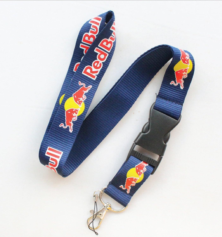 Red Bull Cordón con mosquetón para llavero, color azul ...