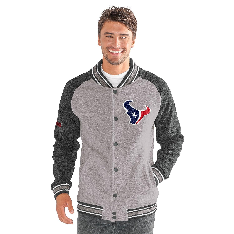 Gray G-III Mens The Ace Sweater Varsity Jacket Large