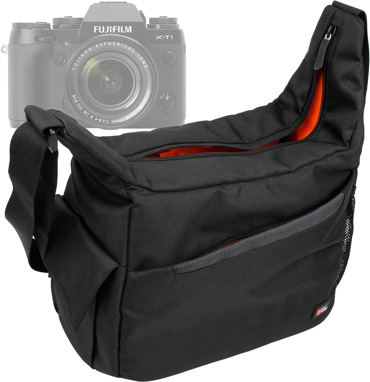 DURAGADGET Rugged 'Urban Dweller' SLR Camera Shoulder 'Sling' Carry Bag for the Fujifilm X-T1 Compact System Camera, FinePix SL1000 Digital Camera & FinePix SL260 Digital Camera - Black (14MP , 26 x Optical Zoom) 3 inch LCD