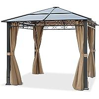 TOOLPORT Cenador de jardín 3x3 m Impermeable ALU Deluxe con 4 Partes Laterales Carpa Party en Techo de Bronce…