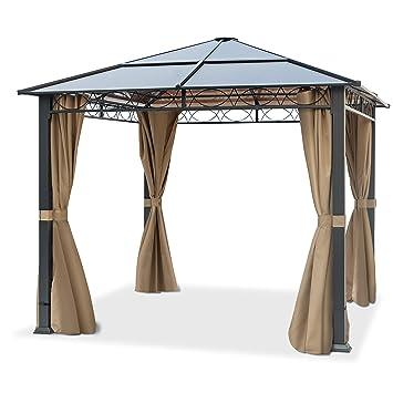 Relativ TOOLPORT Gartenpavillon 3x3 m wasserdicht ALU Deluxe Pavillon mit AC02