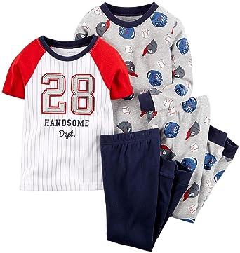 46b073cea Amazon.com  Carter s Baby Boys  4 Piece Sports Tee PJ Set (Baby ...
