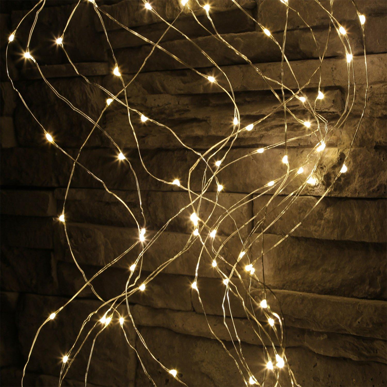 LED Lichterbündel groß 640 Micro LED draht Lichterkette ...