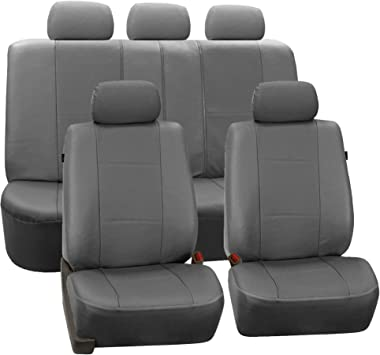 Black Grey Full Set Leather Seat Covers For TOYOTA PRIUS PLUS 12-ON