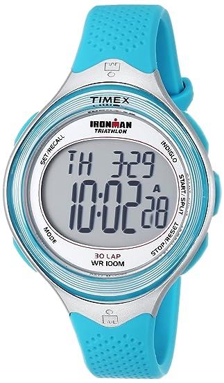 amazon com timex women s t5k602 ironman classic 30 mid size blue rh amazon com