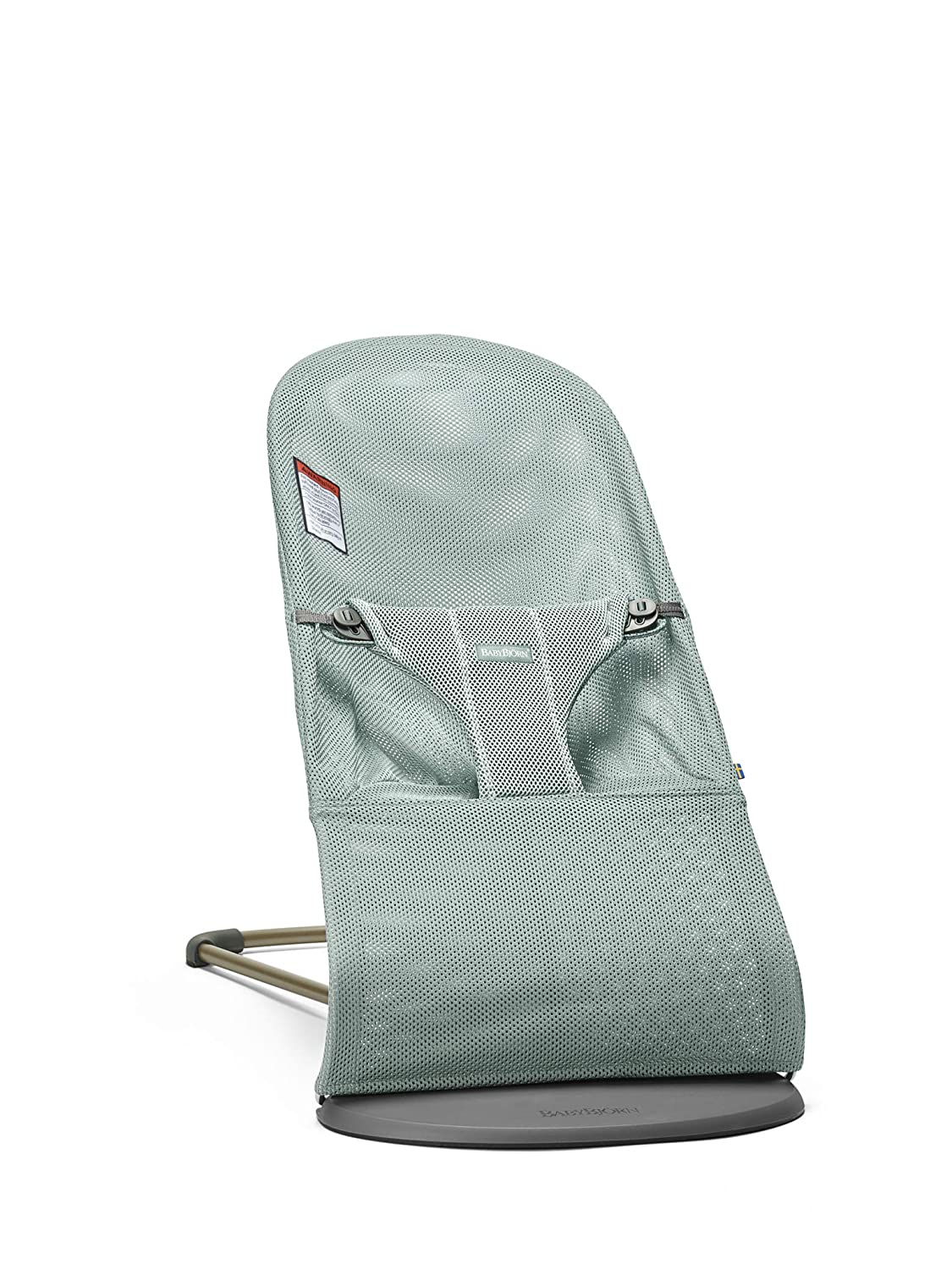 BABYBJORN Bouncer Bliss, Mesh, Frost Green, One Size BABYBJÖRN 006009US