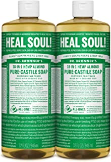 product image for Dr. Bronner's Pure-Castile Liquid Soap - Almond 32oz. (32 Fl Oz (Pack of 2))