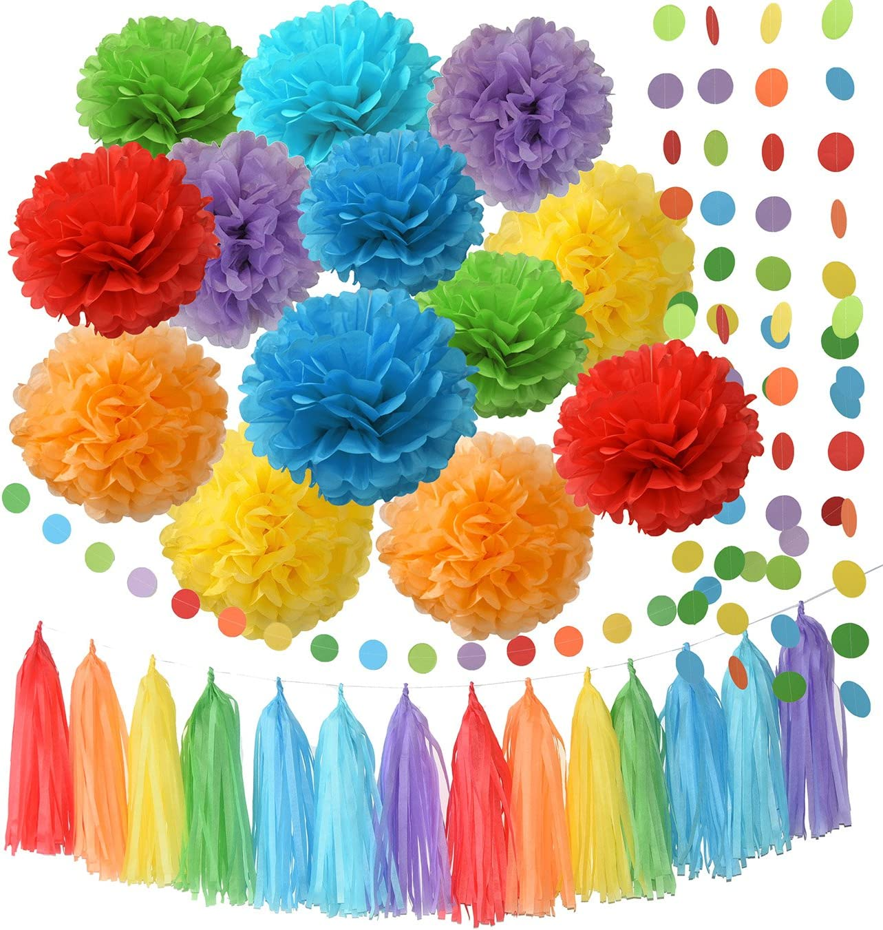 Details about  /RAINBOW MULTI-COLORED PAPER LANTERNS 3 ~ Birthday Party Supplies Decorations