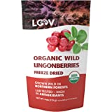 Freeze-Dried Organic Wild Lingonberries, 100% Dried Whole Fruit lingonberries, Wild-Crafted from Northern European…